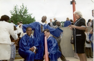 Eric, Sean and Todd at St. Mary's High School Graduation, 1995